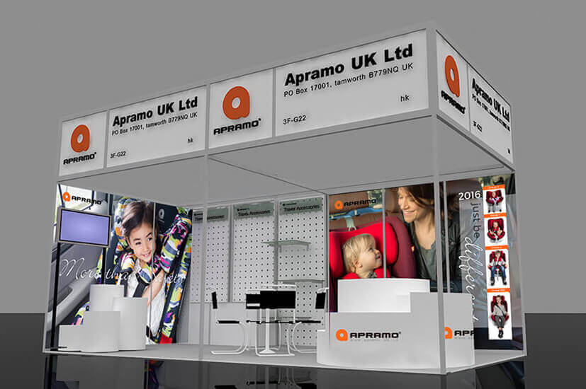 Apramo Exhibition Stand Visuals