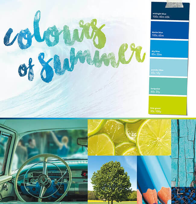 Cool Colours for Your Summer Marketing