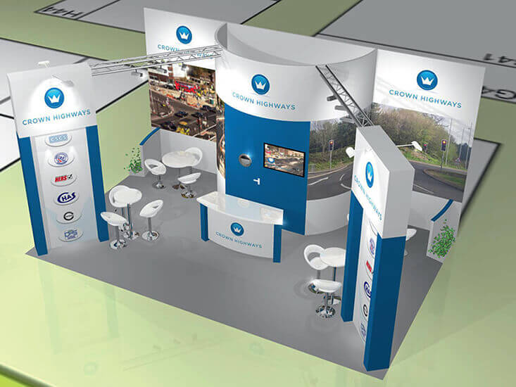 Crown Highways Exhibition Stand Visuals