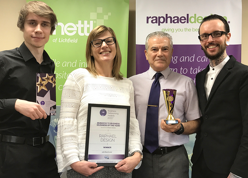 Raphael Wins at 2017 Business Networking Awards!