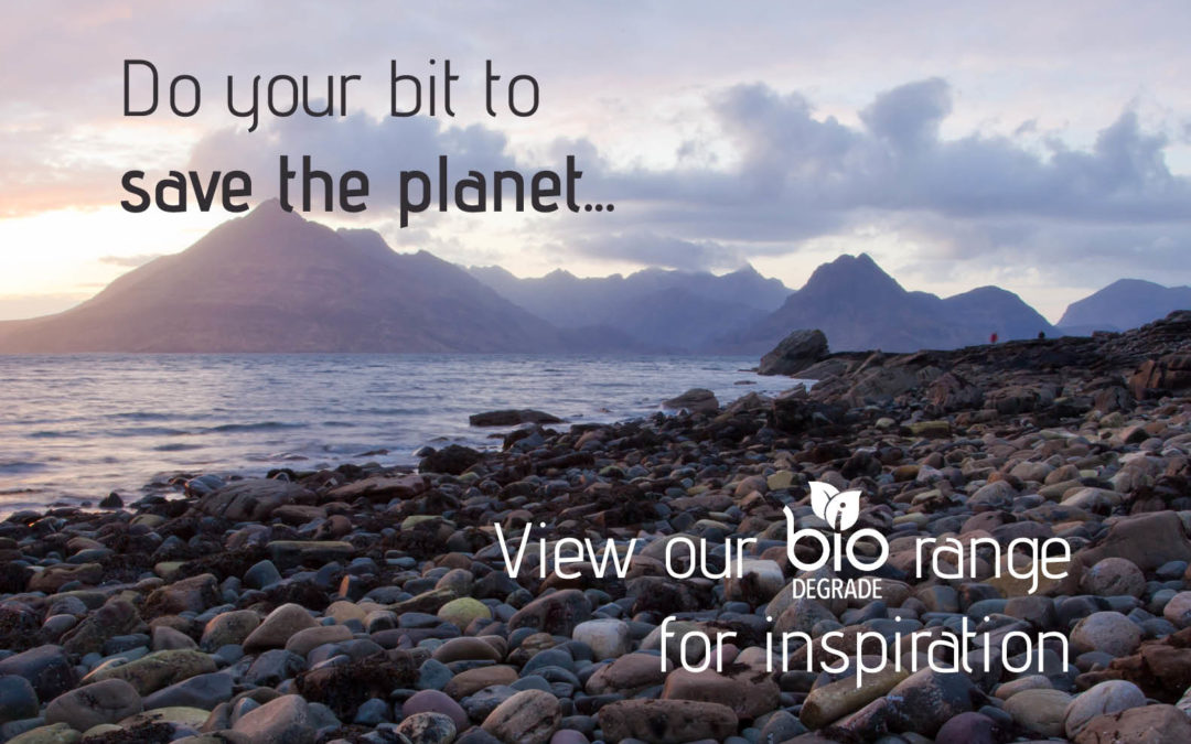 Help save the planet with our biodegradable print finishes